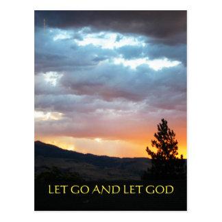 Dejado vaya dejar el cielo de julio de dios tarjetas postales
