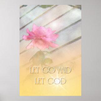 Dejado vaya dejar el rosa rosado de dios imprimir poster