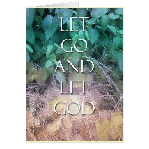 Dejado vaya dejar la tarjeta de dios