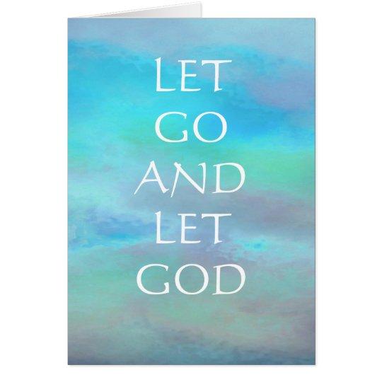 Dejado vaya dejar la tarjeta del cielo de azules