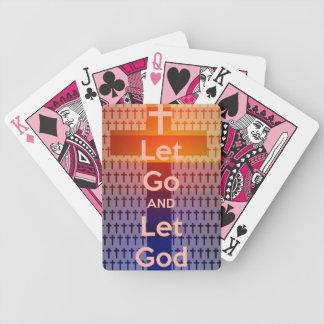 dejado vaya dejar los naipes de dios barajas de cartas