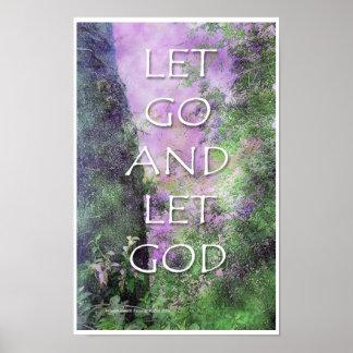 Dejado vaya y deje el poster de dios