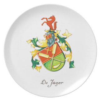 DeJager Family Crest Plate