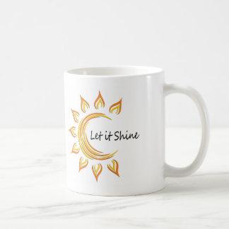 Dejáis le brillar la taza