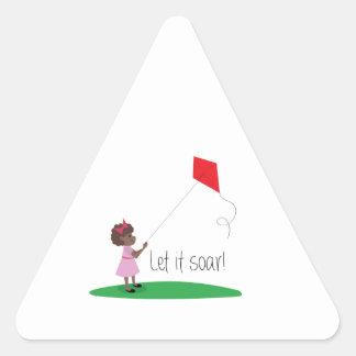 Dejáis le elévese pegatina triangular