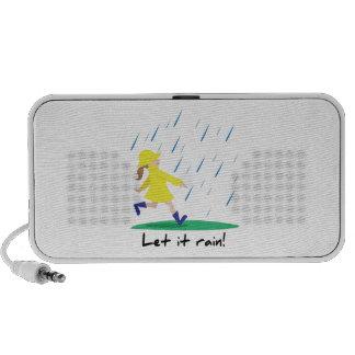 Dejáis le llover iPod altavoces