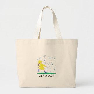 Dejáis le llover bolsa tela grande