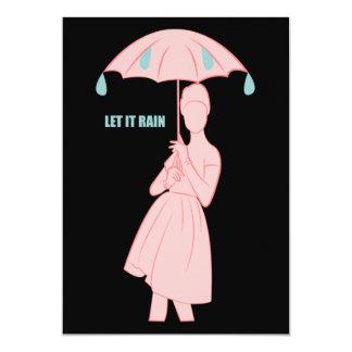 Dejáis le llover invitación 12,7 x 17,8 cm