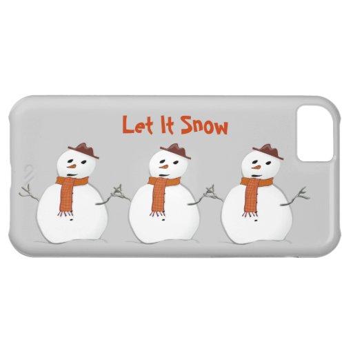 Dejáis le nevar 3 muñecos de nieve con escena del