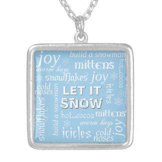 DEJÁIS LE NEVAR collar del navidad del invierno