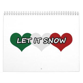 Dejáis le nevar corazón triple calendario