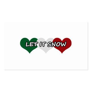 Dejáis le nevar corazón triple tarjetas de visita