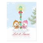 Dejáis le nevar día de fiesta festivo del navidad  tarjetas postales