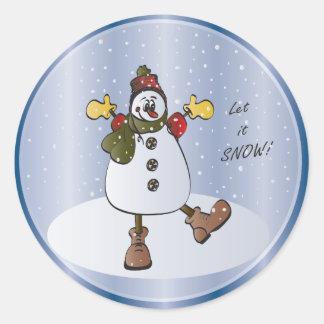 Dejáis le nevar etiqueta del regalo