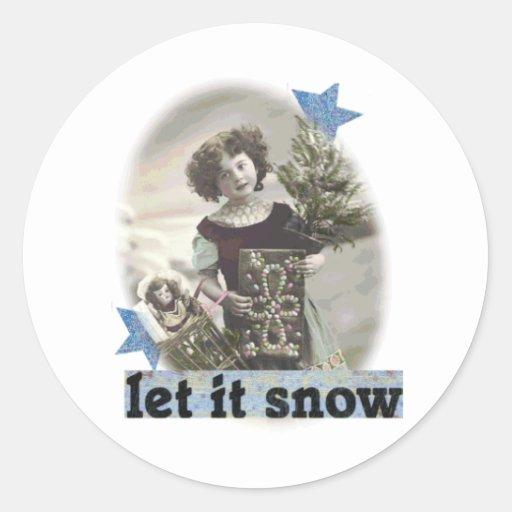 Dejáis le nevar etiqueta redonda