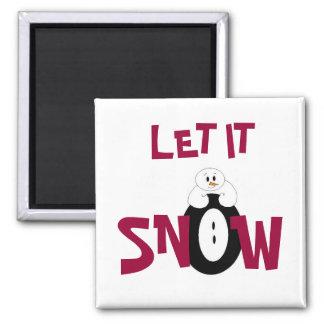 Dejáis le nevar… imán para frigorifico