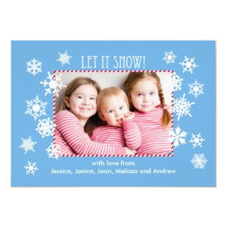 Dejáis le nevar invitación de la tarjeta de la invitación 12,7 x 17,8 cm