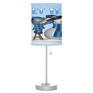 Dejáis le nevar lámpara de mesa del muñeco de niev