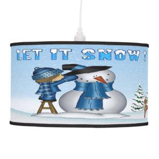 Dejáis le nevar lámpara pendiente del muñeco de ni