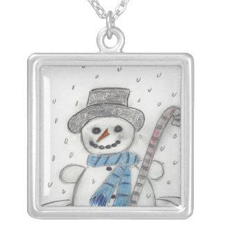 Dejáis le nevar muñeco de nieve pendientes personalizados