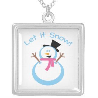 Dejáis le nevar muñeco de nieve joyerías