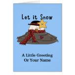 Dejáis le nevar muñeco de nieve derretido lindo di felicitación