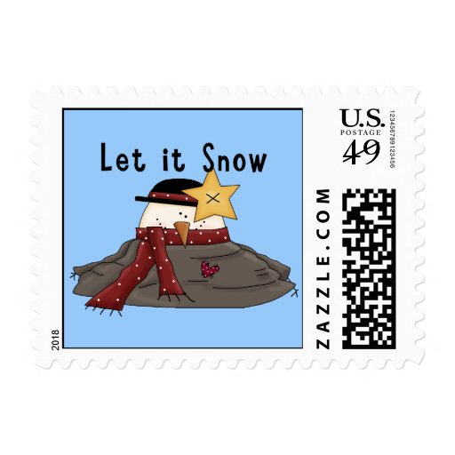 Dejáis le nevar muñeco de nieve derretido lindo sello