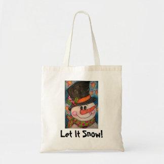 Dejáis le nevar - muñeco de nieve escarchado bolsa tela barata