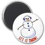 ¡Dejáis le nevar! Muñeco de nieve Imán Para Frigorífico