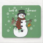 Dejáis le nevar - muñeco de nieve Mousepad Tapete De Raton