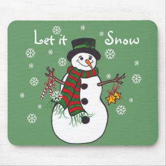 Dejáis le nevar - muñeco de nieve Mousepad