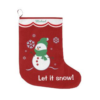 Dejáis le nevar muñeco de nieve personalizado