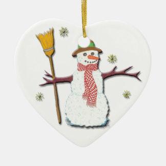 ¡Dejáis le nevar! Ornamento Adorno Navideño De Cerámica En Forma De Corazón