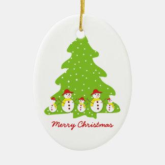 Dejáis le nevar ornamento de encargo del navidad adorno navideño ovalado de cerámica