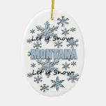 Dejáis le nevar ornamento del navidad de Montana Ornamento Para Reyes Magos
