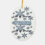 Dejáis le nevar ornamento del navidad de Wyoming Adorno Navideño Ovalado De Cerámica