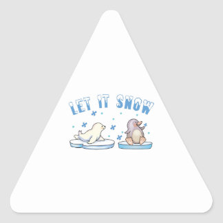 Dejáis le nevar pegatina triangular