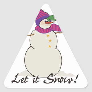 ¡Dejáis le nevar! Pegatina Triangular