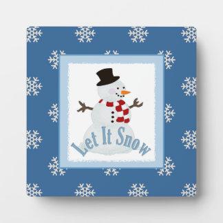 Dejáis le nevar: Placa del muñeco de nieve