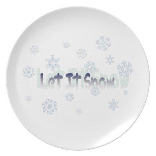Dejáis le nevar platos para fiestas