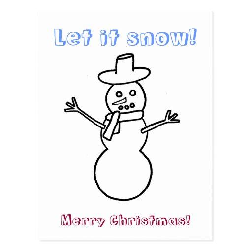 Dejáis le nevar, postales del colorante del