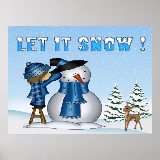 Dejáis le nevar poster/impresión del muñeco de nie póster