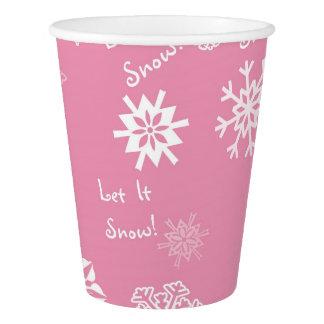 Dejáis le nevar rosa vaso de papel