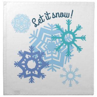 ¡Dejáis le nevar! Servilletas De Papel
