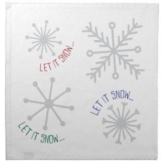 Dejáis le nevar servilleta de papel