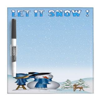 Dejáis le nevar tablero seco del borrado del muñec pizarras blancas de calidad