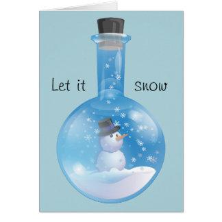 Dejáis le nevar tarjeta de felicitación
