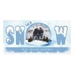 Dejáis le nevar tarjeta de la foto del día de fies tarjeta fotografica