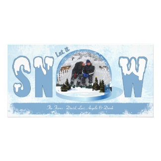 Dejáis le nevar tarjeta de la foto del día de fies tarjeta personal
