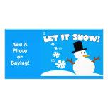 Dejáis le nevar tarjeta de la foto tarjeta personal con foto